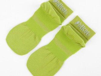 癒本舗の ヒルコス 男女兼用 靴下 抗菌防臭 ショートソックス ティーグリーン 22~24cmの画像