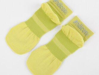 癒本舗の ヒルコス 男女兼用 靴下 抗菌防臭 ショートソックス イエローグリーン 26~28cmの画像