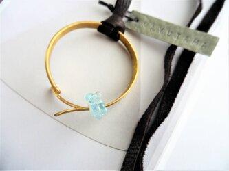 maru真鍮×ガラスのネックレス (utakata)の画像