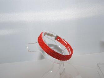ビーズ織り【シンプルブレスレット】レット系・赤の画像