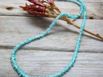 SleepingBeautyTurquoise & WhiteShell Long necklace Silver925の画像