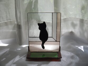 トレイ ( 小皿 ) 付きステンドグラススタンド 午後 の画像