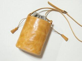 [受注生産]  バケツ型のショルダーバッグ キャメルの画像