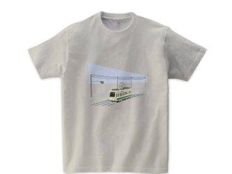 電車Tシャツ-都電荒川線2(シルバーグレー)の画像