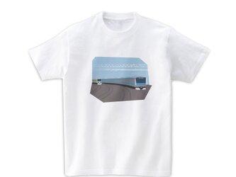 電車Tシャツ-京浜東北線山手線1(白)の画像
