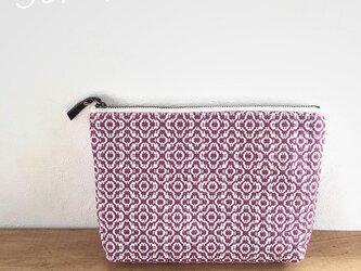pouch[手織りポーチ] マゼンダの画像