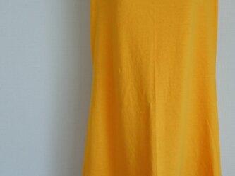 ニットワンピース 真夏のルームウェア ビタミンカラー オレンジの画像