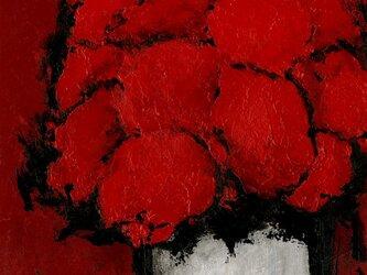 赤い部屋の赤い花 #001の画像