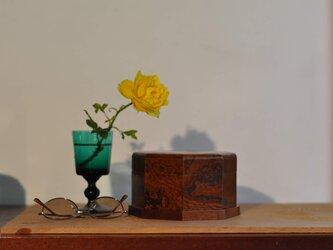 ケヤキ玉杢小箱 拭き漆塗の画像
