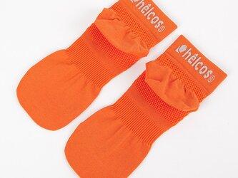 癒本舗の ヒルコス 男女兼用 靴下 抗菌防臭 ショートソックス オレンジ 27~29cmの画像