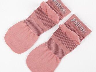 癒本舗の ヒルコス 男女兼用 靴下 抗菌防臭 ショートソックス ワイルドローズ 22~24cmの画像
