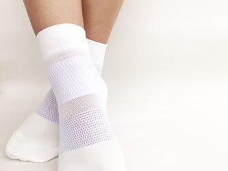 癒本舗の ヒルコス 男女兼用 靴下 抗菌防臭 ショートソックス オフホワイト 24~26cmの画像