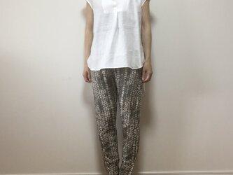 リネンフロントショートシャツ(オフホワイト)の画像