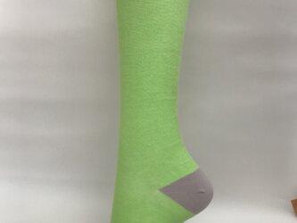 癒本舗 ヒルコス 靴下 着圧ソックス ライトグリーン L丈の画像