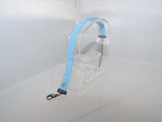 ビーズ織り【シンプルブレスレット】ラメ系・スカイブルーの画像