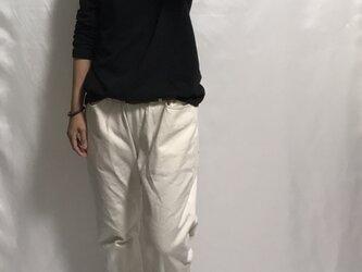 drill pants/organic cotton ○受注製作の画像