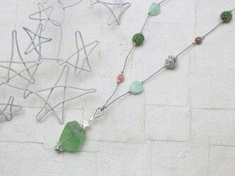 星☆フローライト ころころネックレスの画像