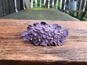 革花のスリーピン 楕円(花芯付き) 薄紫の画像