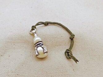 銀製の鈴 『 瓢箪 』 (シルバー925) 根付・帯飾りの画像