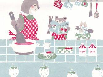 「イチゴジャム」ポストカード2枚セット の画像