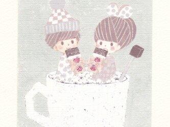 「フユイチゴフレーバーチョコレート」ポストカード2枚セット 〇カードNO.1803の画像