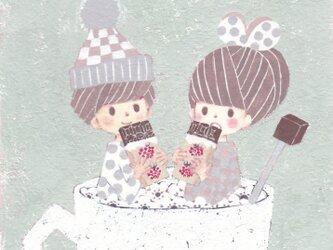 「フユイチゴフレーバーチョコレート」ポストカード2枚セット の画像
