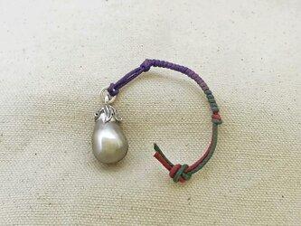 銀製の鈴 『 茄子 』 (シルバー925) 根付・帯飾りの画像