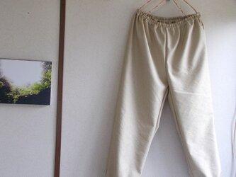 リネン混カフスパンツの画像
