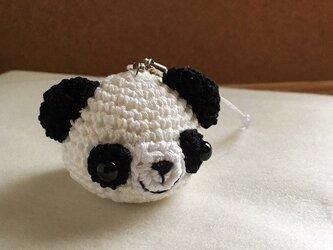 【受注生産】白黒パンダさん(大)イヤホンジャックストラップの画像
