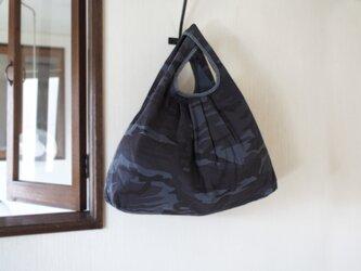 買い物バッグ / エコバッグ / 迷彩 後染め 〜 渋ブルーの画像