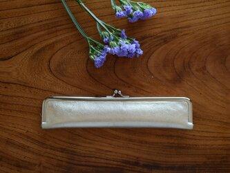 21cm婦人用扇子ケース/レザー/本革ゴールドの画像
