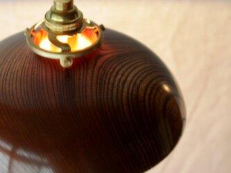 木と漆のランプ 欅 (ky2)の画像