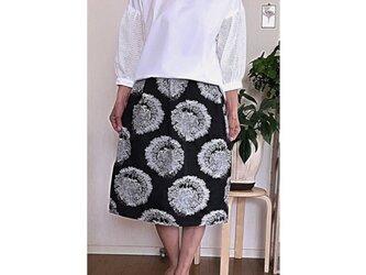 イタリー製ジャガード織り生地のタックギャザースカートの画像