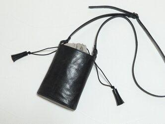 [受注生産] 小さなバケツ型のミニポシェット 黒の画像