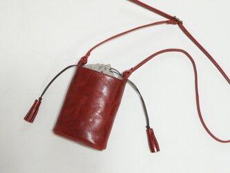 [受注生産] 小さなバケツ型のミニポシェット 赤の画像