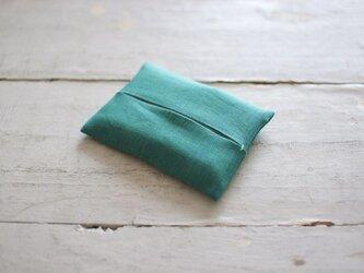 大人のリネンのポケットティッシュカバー《イタリアングリーン》の画像