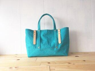【受注製作】ターコイズブルーの鞄の画像