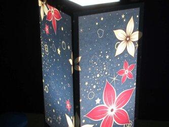 夢明かり≪夜宴花≫紙貼・中形・LED 夢灯かり飾りライトの醍醐味を!!の画像