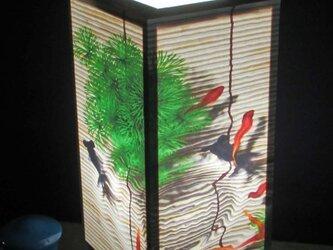 夢明かり≪金魚の散歩≫ 紙貼・中形・LED 飾りライトの醍醐味を!!の画像