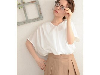 ◇◆◇linen×cotton Vneck blouse_offの画像