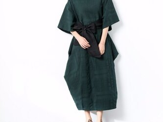(再販)一枚で着られる♪ リボン ゆったり コットン 半袖 ワンピース ♪オーダーサイズ可の画像