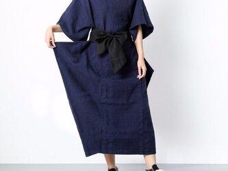 一枚で着られる♪ リボン ゆったり コットン 半袖 ワンピース ♪オーダーサイズ可の画像