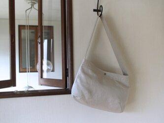 BIG ショルダーバッグ  / 麻 帆布の画像