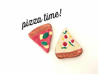 pizza time!箸置き(ペパロニ&マルゲリータ)の画像