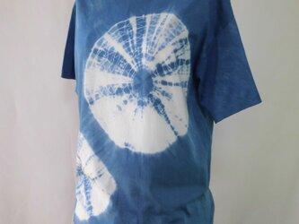 藍染め・Tシャツ_5・絞り染め・スーピマコットン・L・男女兼用の画像