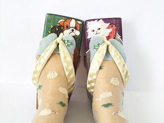 猫型下駄♡三味芳町M〜Lの画像