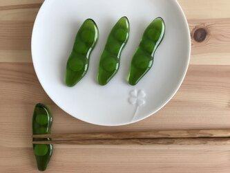 枝豆のお箸置き(4個)の画像
