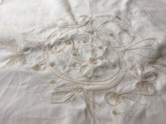 "FABRIC ART ""maruhane-embroidery"" WHITEの画像"