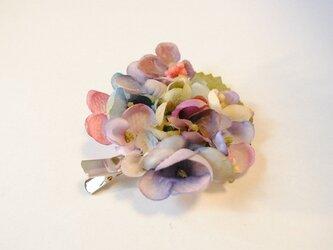 紫陽花髪飾りの画像