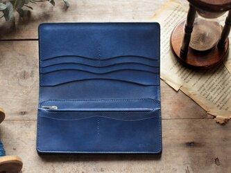 藍染革[migaki] 長財布の画像